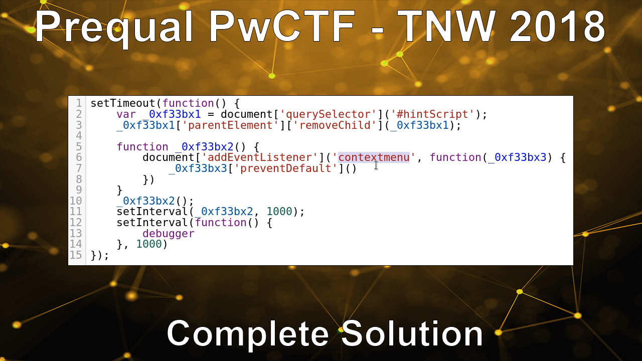 Prequal PwCTF – TNW 2018 – Complete Solution
