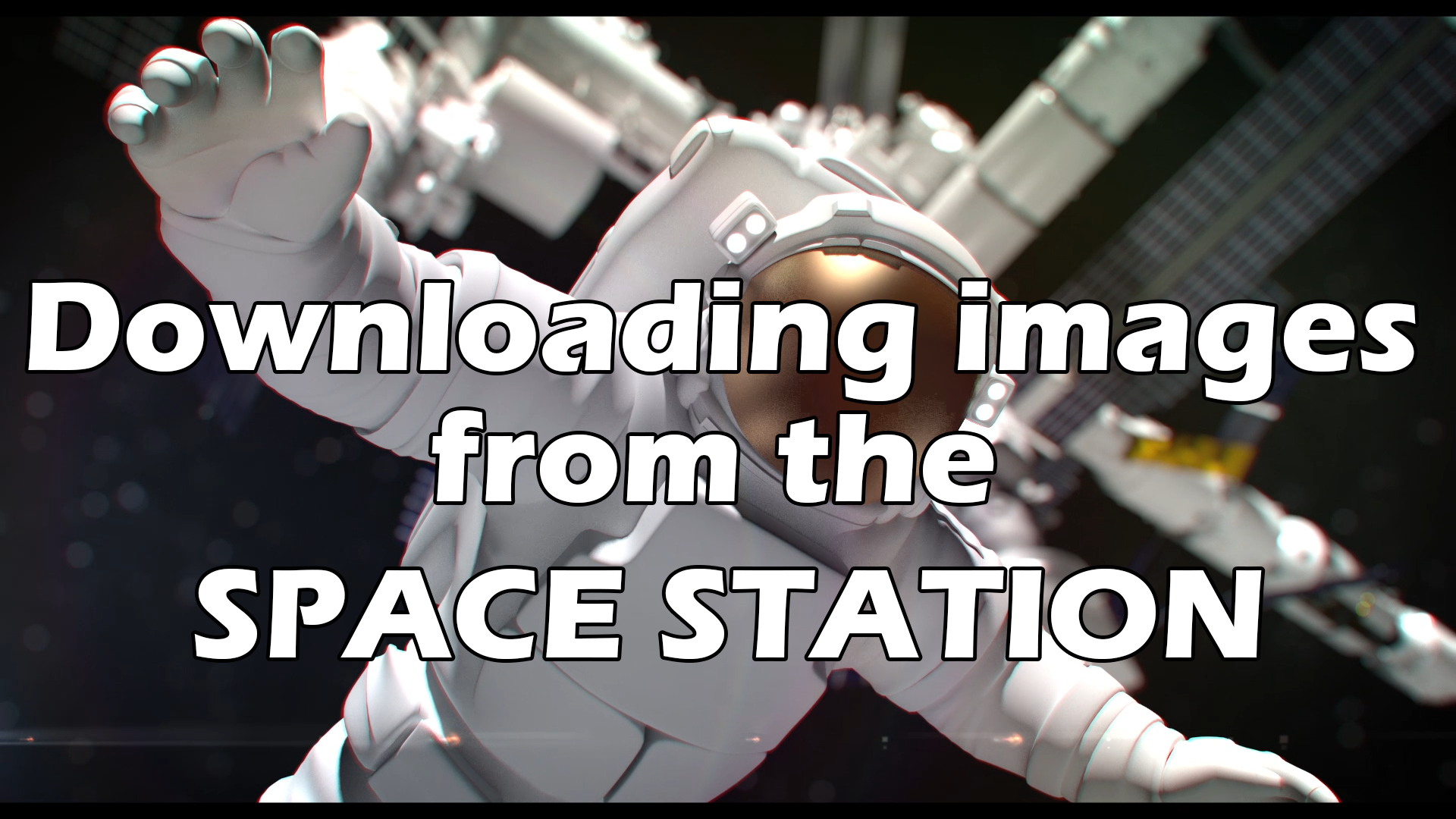 Downloading images from the SPACE STATION with a 22$ USB radio